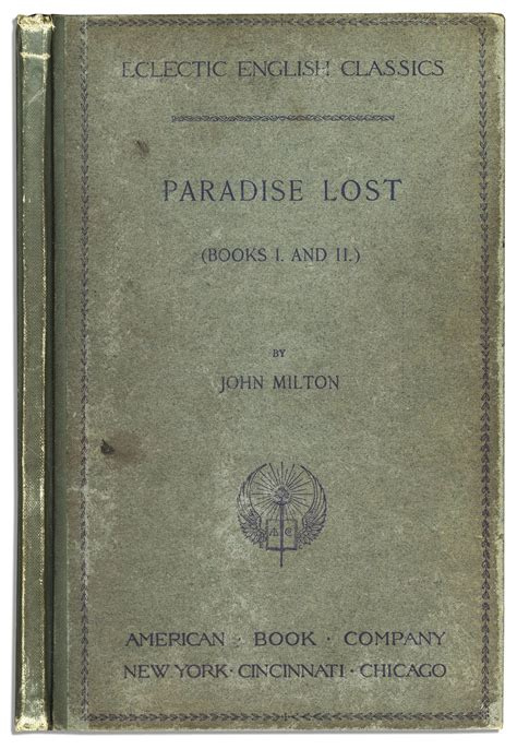 paradise lost books lot detail milton s paradise lost books i and ii