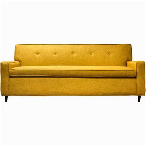 yellow tufted sofa my big bold sofa from chairish old brand new