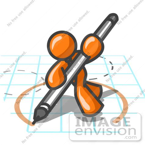 clip art graphic   orange guy character drawing