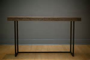 Extra Wide Couch Sofa Hall Table Welded Steel And Salvaged Lumber Reclaimed