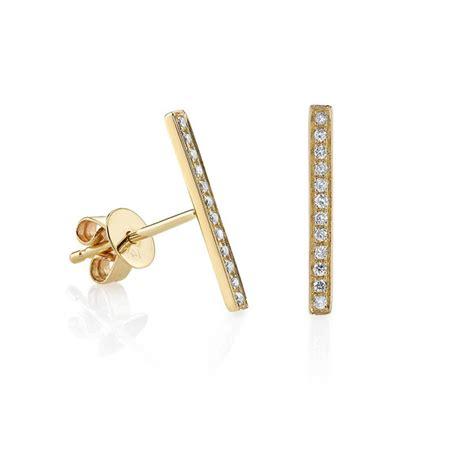 Bar Stud Earring sydney evan pav 201 bar stud earrings garmentory