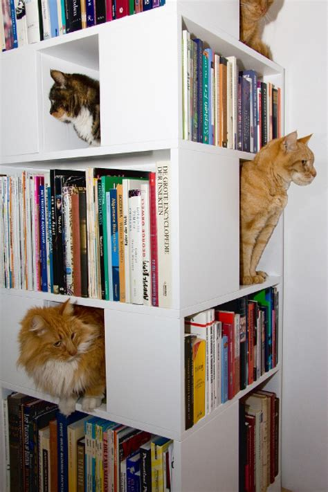 15 Cool Modern Homes For Cool Cats2014 Interior Design Cat Bookshelves