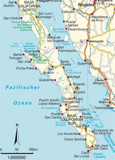 map of baja california map baja california mexico maps and directions at map