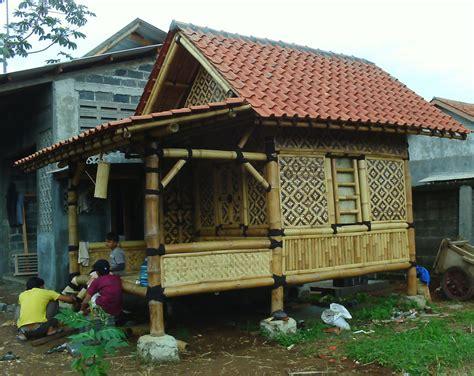 design gapura dari bambu desain dapur rumah bambu minimalis 300x172
