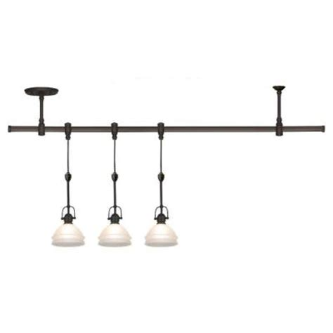 Sea Gull Lighting Ambiance Transitions 3 Light Antique Pendant Rail Lighting
