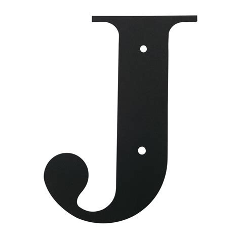 Village Wrought Iron: Letter J Large