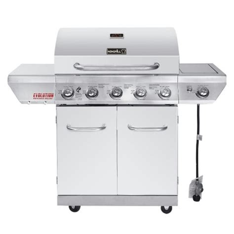 nexgrill evolution 5 burner propane gas grill in stainless
