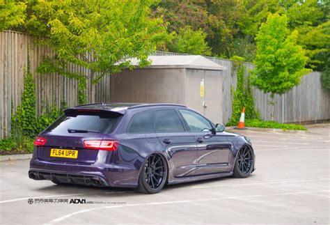 audi s6 stance adv1 wheels merlin purple audi rs6 avant wagon bagged