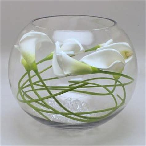Fishbowl Vases by Calla In Fish Bowl Vase Lilies Glass