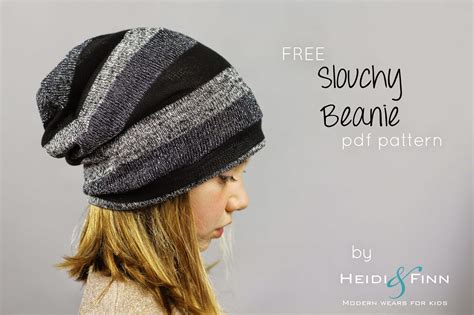 sewing pattern hat free free sewing pattern slouchy beanie