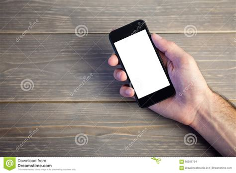 Person Showing Mobile Phone Stock Photo Image 60551794