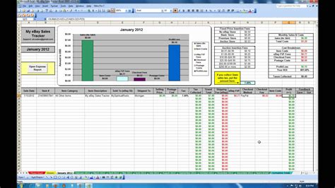 sales tracking template my ebay sales tracker spreadsheet