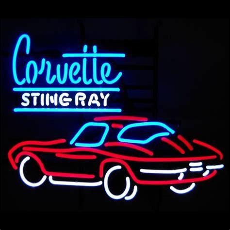 neon sign corvette sting