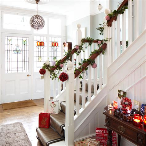 white christmas hallway ideal home