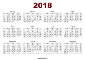 2018 Calendar One Page Headers Covers Wallpapers Calendars