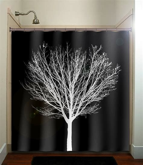 fabric tree shower curtain winter bathroom decor 2017 grasscloth wallpaper