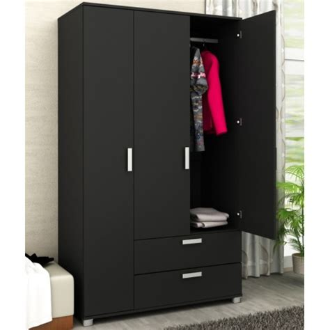 3 Door Wardrobe With Drawers by 3 Door 2 Drawer Wardrobe With Drawers Black