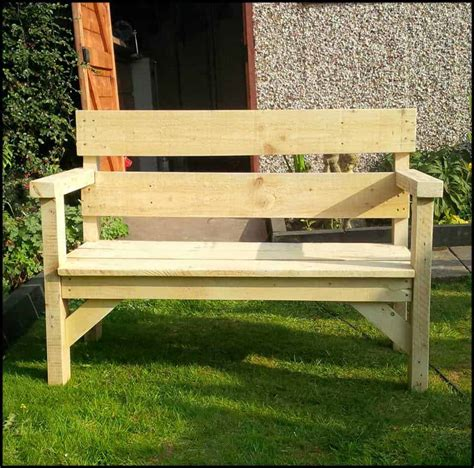 garden bench made from pallets pallet garden bench 1001 pallets