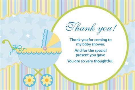Thank You Gift Card Baby Shower - baby shower thank you cards quotes