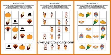 printable thanksgiving sudoku puzzles free thanksgiving sudoku printables