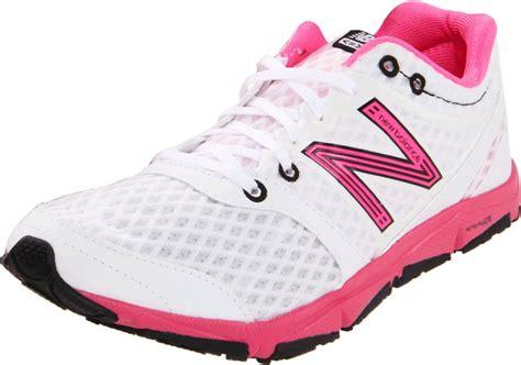 new balance white running shoes new balance womens w730 running shoe in white white pink