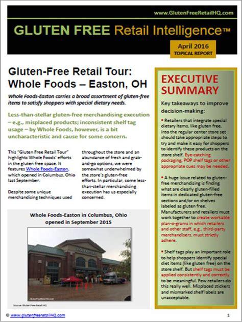 sle of gluten free diet gluten free retail intelligence whole foods retail tour