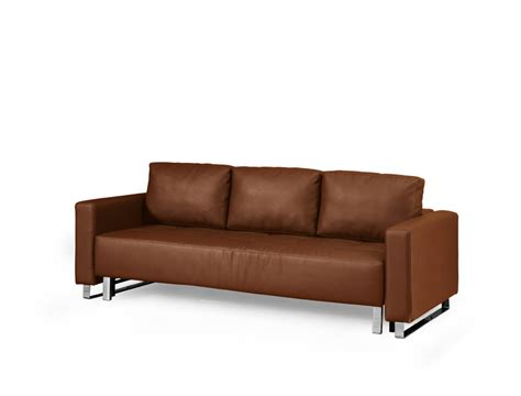 leather convertible sofa floor sle lincoln park faux leather brown convertible
