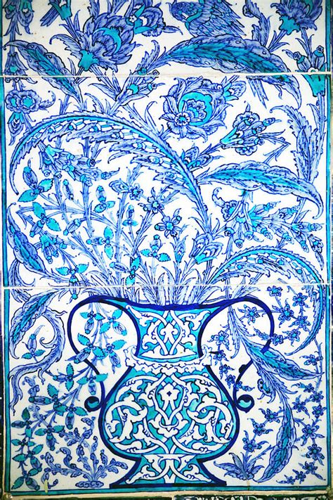 ottoman tiles ottoman iznik tile design photograph by jan mcgready