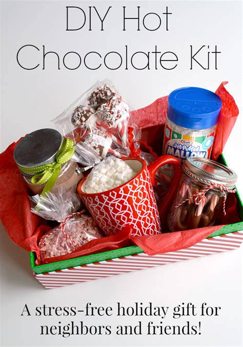 10 easy christmas gifts to make for neighbors diy chocolate kit