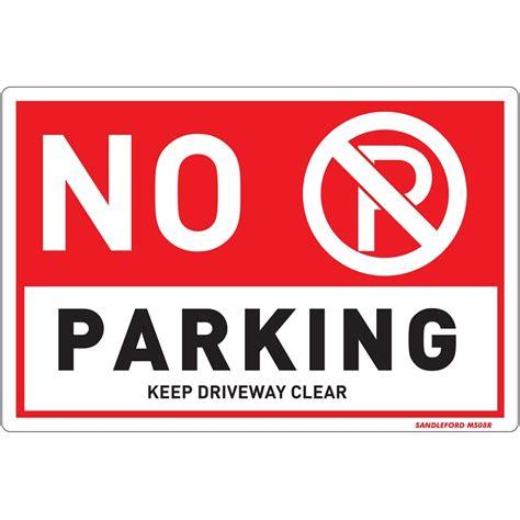 no smoking sign bunnings sandleford 300 x 200mm no parking plastic sign bunnings