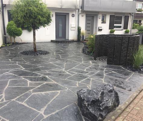 hauseingang gestalten granit poygonalplatten naturstein aus maggia granit als