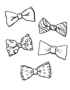 Small Bow Coloring Page   tie bow tie template father s day pinterest tie