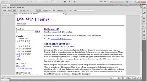 tutorial dreamweaver cs6 español pdf dreamweaver and wordpress building themes