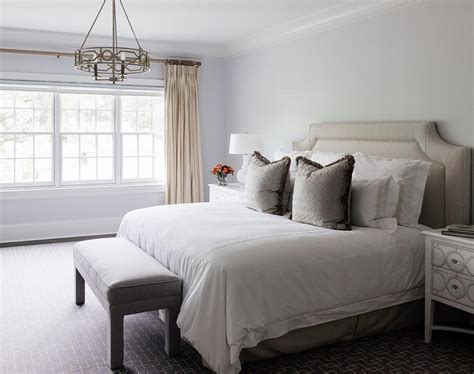 taupe bedroom ideas taupe headboard and bedskirt transitional bedroom