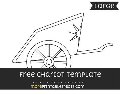 chariot template chariot template large