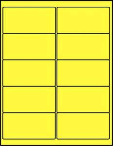 2 x 4 label template 2 x 4 inch fluorescent yellow labels 50 sheets c4020