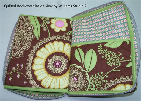 Quilted Book Cover by Sewing Cafe Quilted Book Notebook Cover