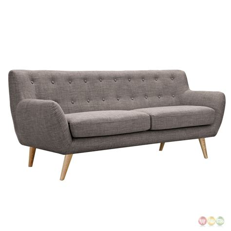 tufted upholstered sofa ida modern grey button tufted upholstered sofa with
