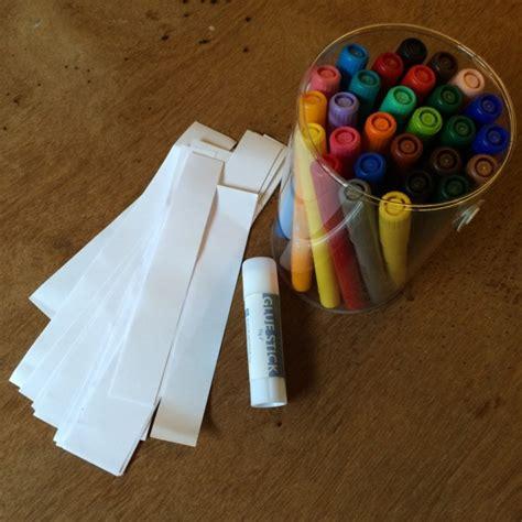 Pen Paper Kenko Glue Stick Felt Pen Paper Chains Colourful Minds