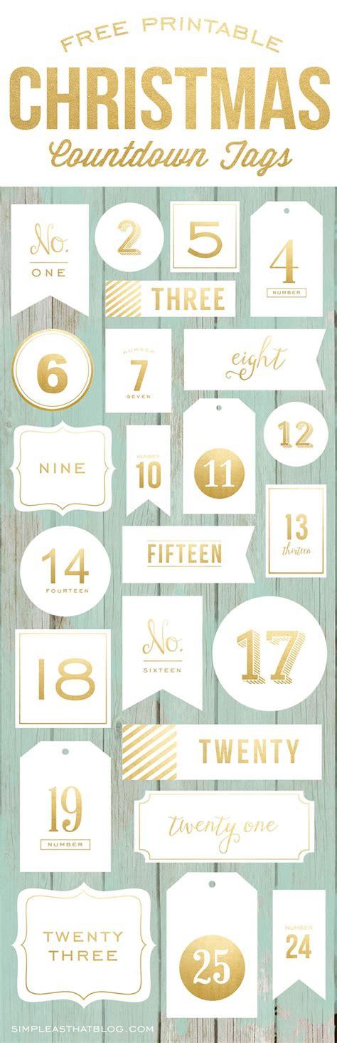 printable christmas countdown tags advent calendar christmas countdown tags december och jul