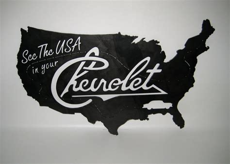 on sale see the usa in your chevrolet sign steel handmade