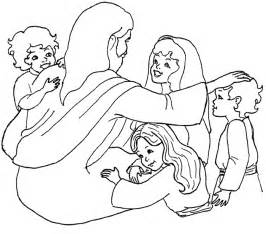 Jesus And The Children Coloring Page Jesus And The Children Coloring Page