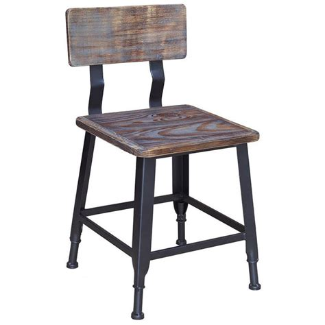 industrial metal chairs nz industrial series metal chair with wood back seat