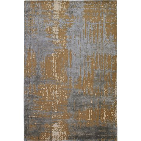 new zealand wool rugs uk caramel knotted new zealand wool and viscose sheen rug