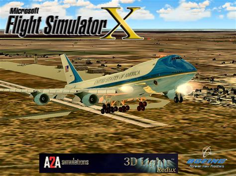air force one installation air force one boeing 747 400 new for fsx