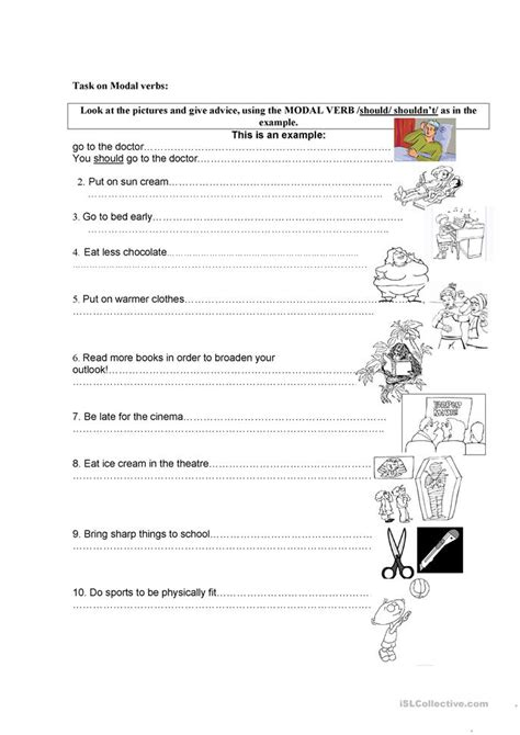 What You Should About Resources This Year 2 by Modals Should Must Mustn T Worksheet Free Esl Printable
