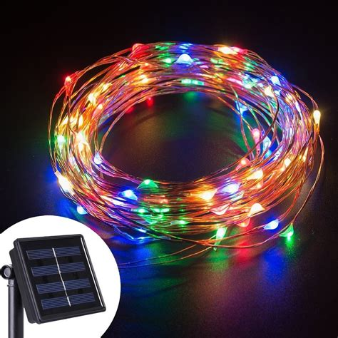 Led String Lights 10m 100 Leds Solar Powered Copper Wire 100 Led Lights