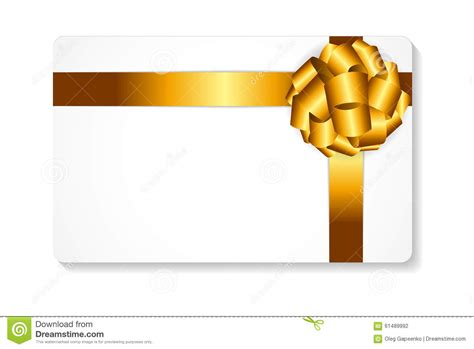 Ribbon Gift Card Price - gift card with gold bow and ribbon vector stock vector image 61489992