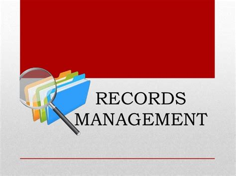 Are Records Records Document And Records Records Management