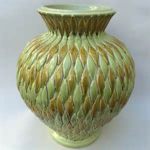 tuscan vase with applied leaves italian pottery outlet